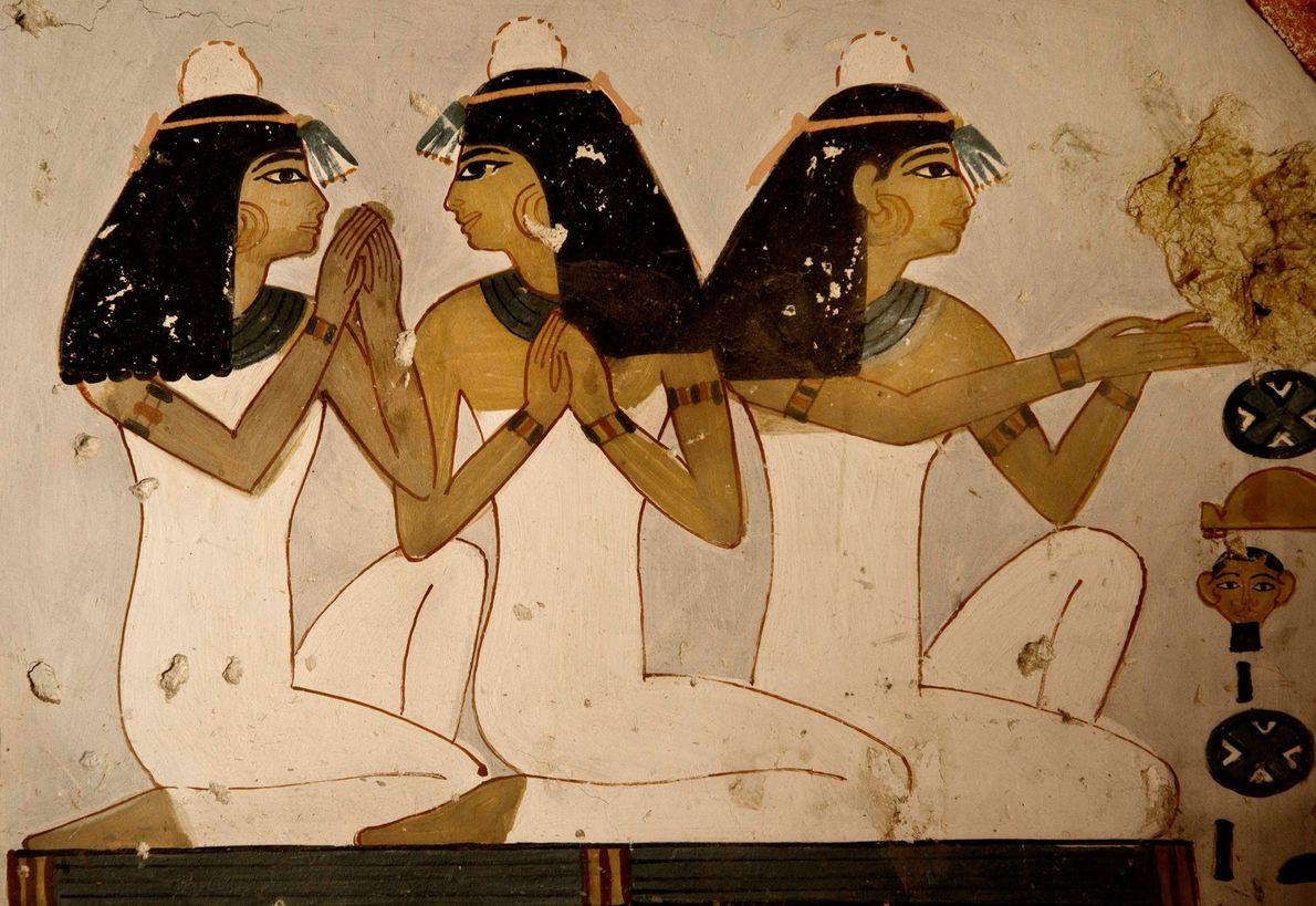 Detalle del mural de 3.400 años