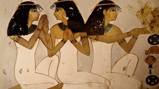 Fotografías de dos tumbas egipcias de 3.500 años