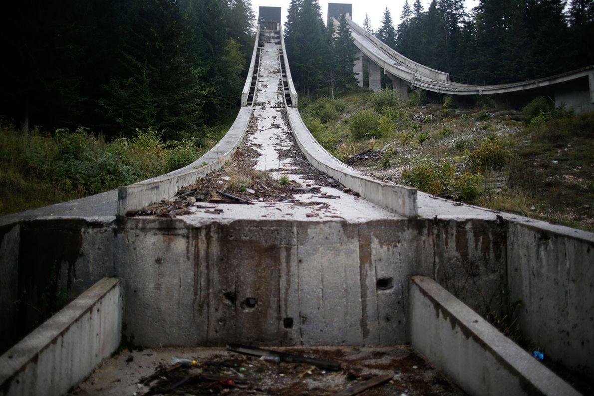 La rampa de salto de esquí