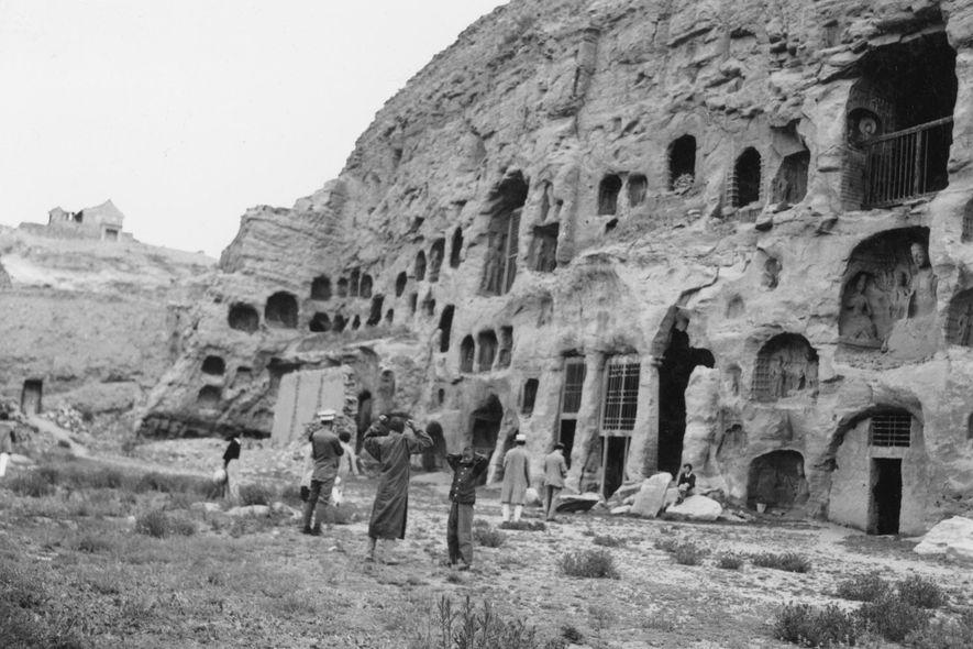 Las cuevas de Yungang se excavaron durante el siglo V en China.
