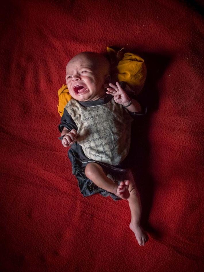 Un bebé de 15 días
