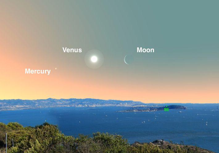 Venus y la luna