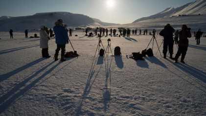 Stan Honda fotografía el eclipse solar de 2015 en Svalbard, Noruega
