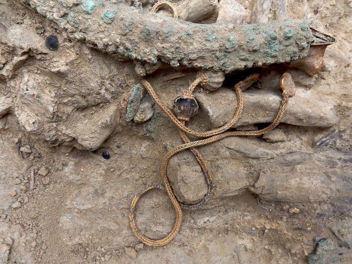 Guerrero griego de la Edad de Bronce.