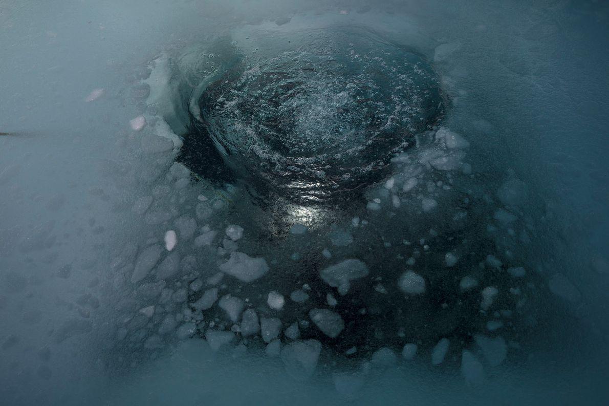 Agujero en el hielo