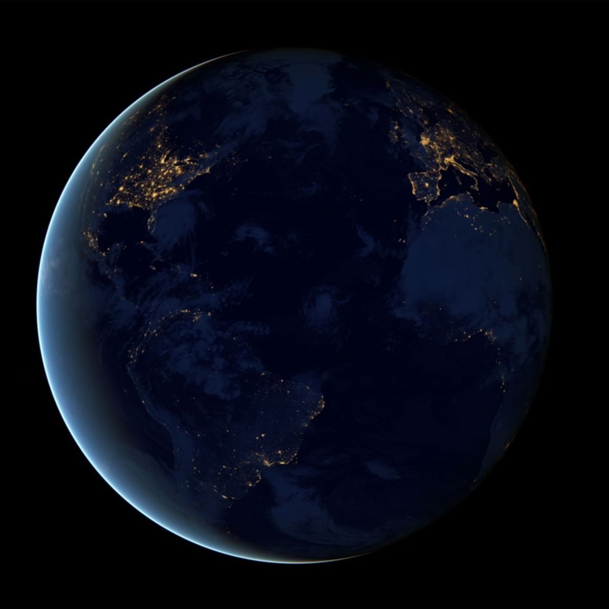 La cara oscura de la Tierra