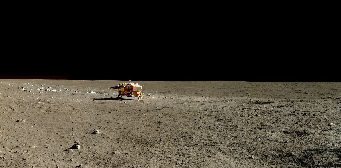 Imagen del Yutu en la Luna