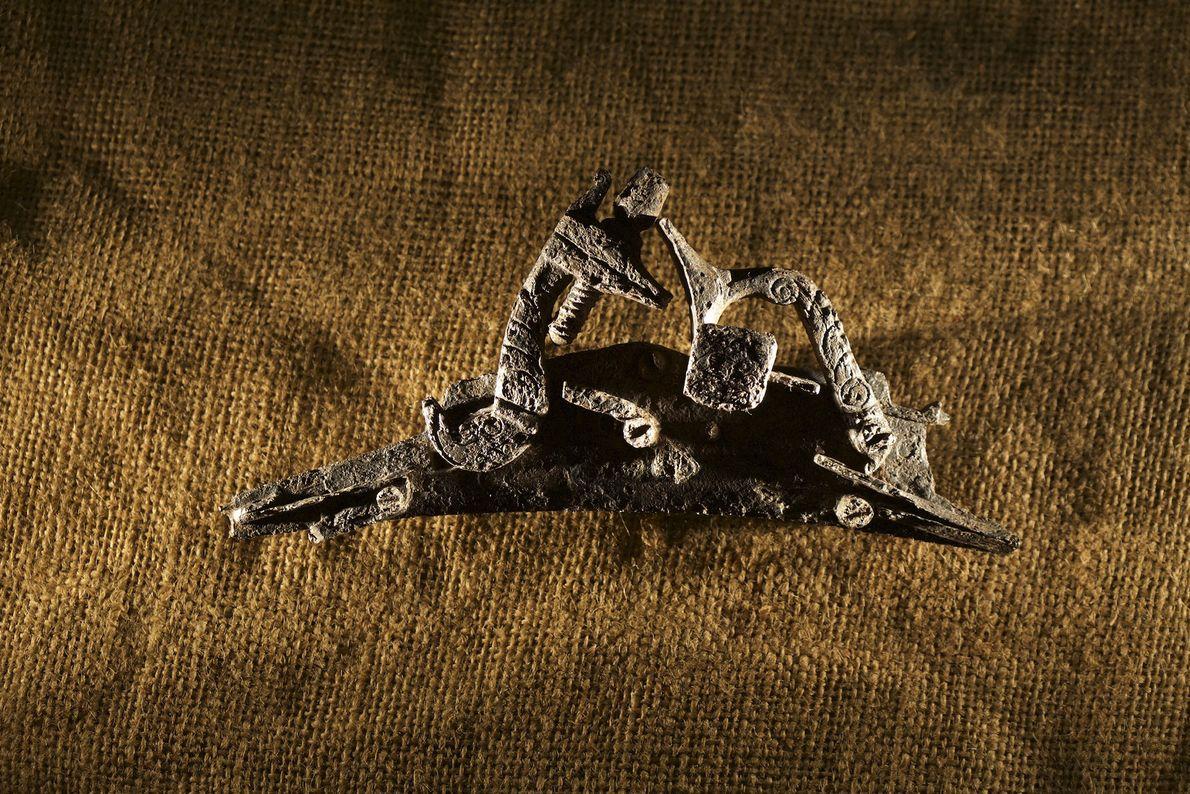 Imagen de las piezas del gatillo de un rifle