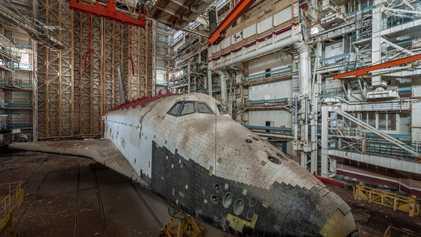Las imágenes de las naves soviéticas abandonadas en un desierto de Kazajistán