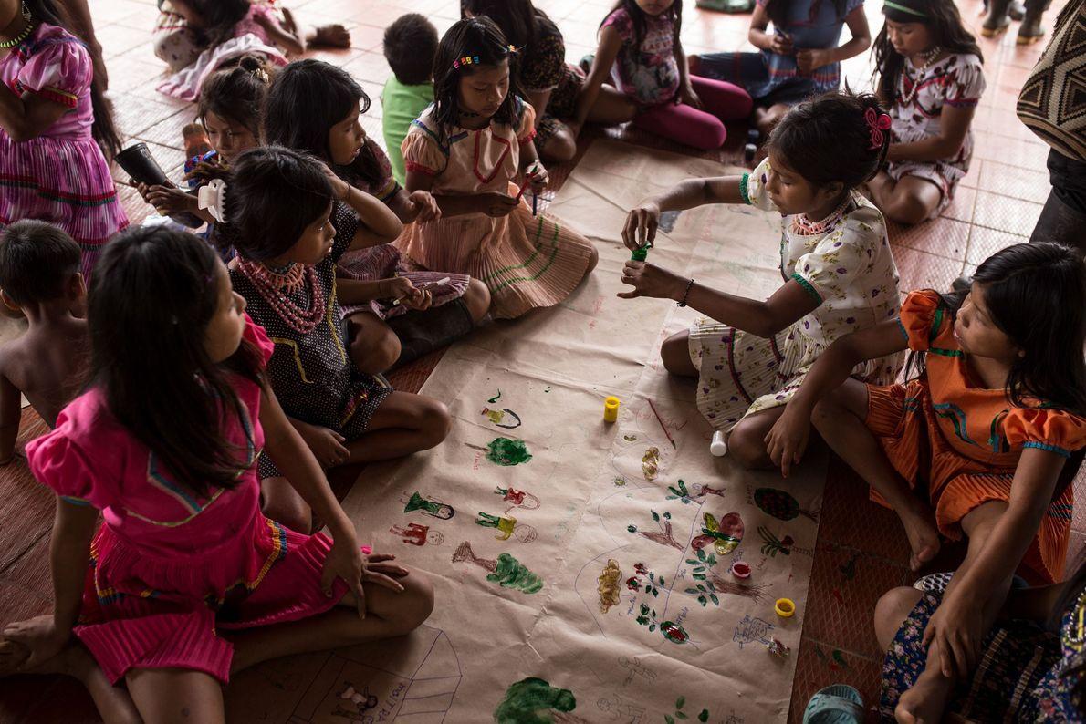 El arte de los niños de La Puria