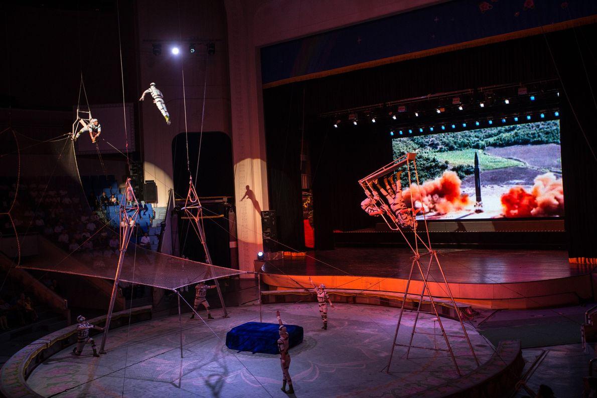 Actuación de circo