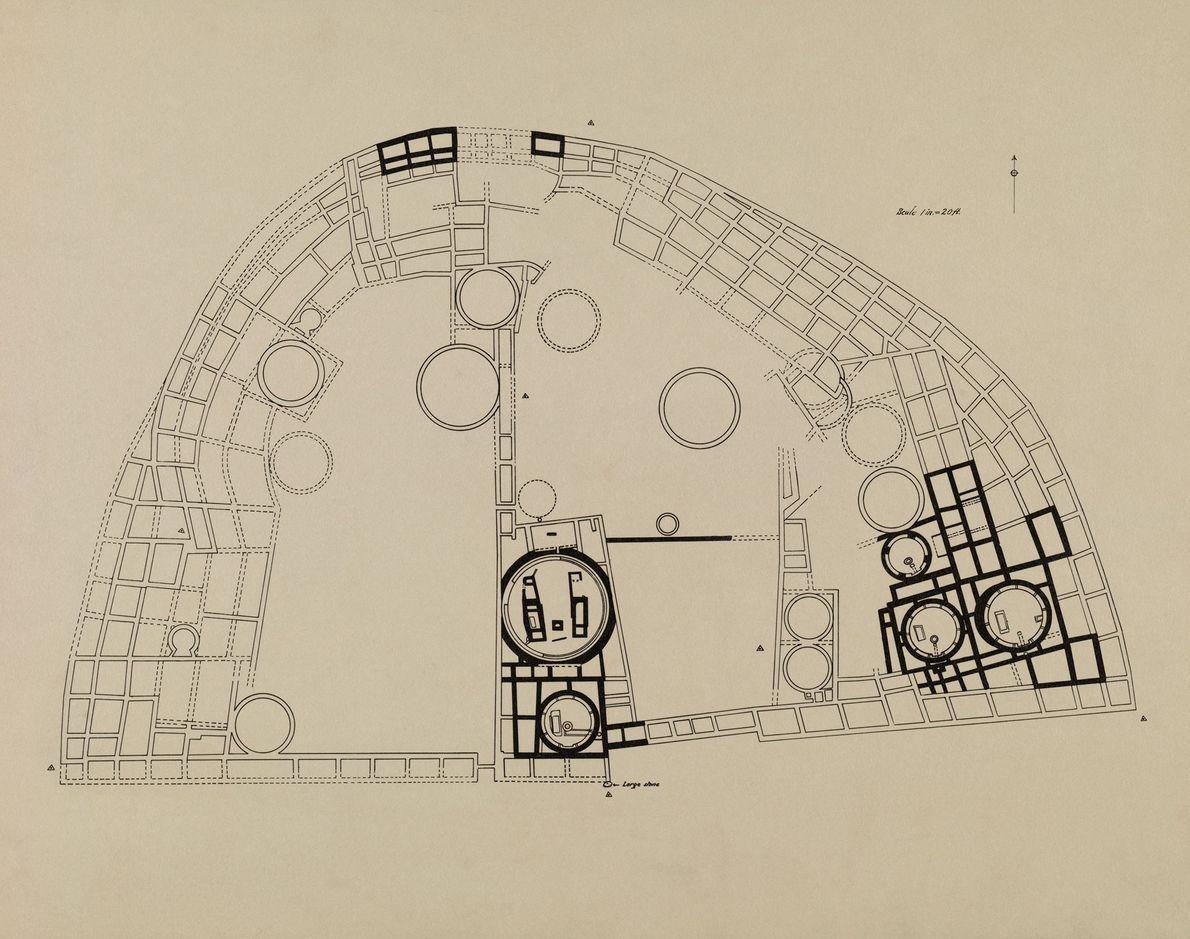 Un diagrama de Pueblo Bonito