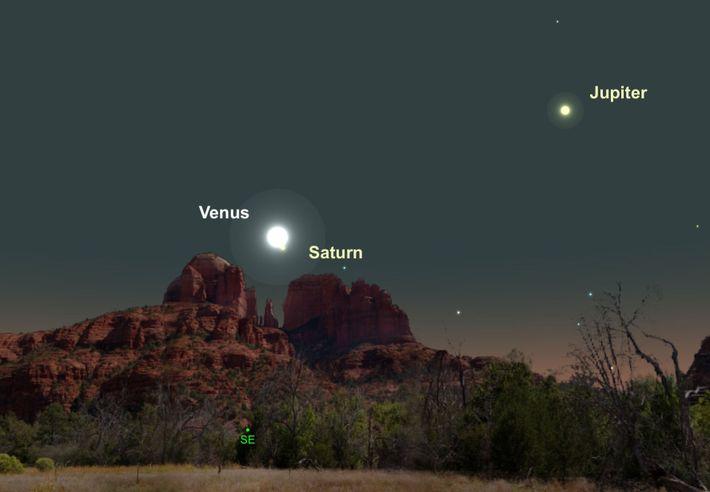 Venus y Saturno