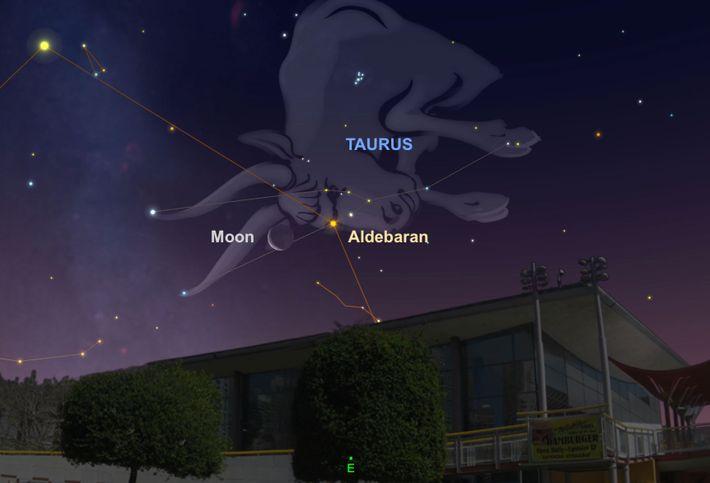 Aldebarán y la Luna