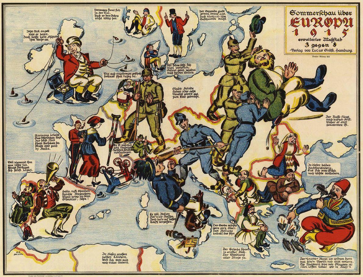 Un mapa pictórico de 1915