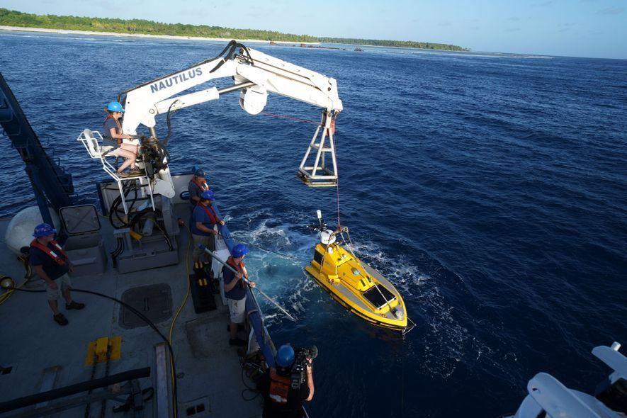 Utilizan un barco robótico o «vehículo autónomo en superficie» (ASV, por sus siglas en inglés) para ...