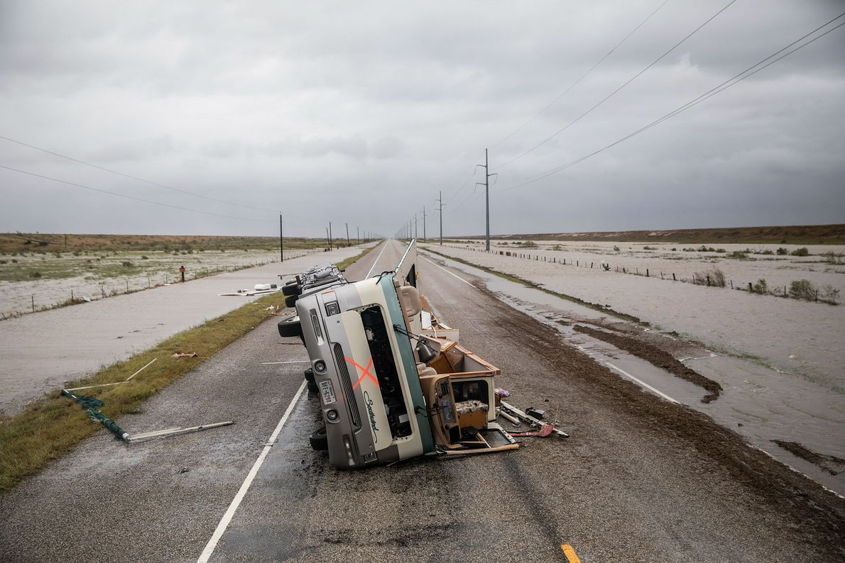 Caravana destruida
