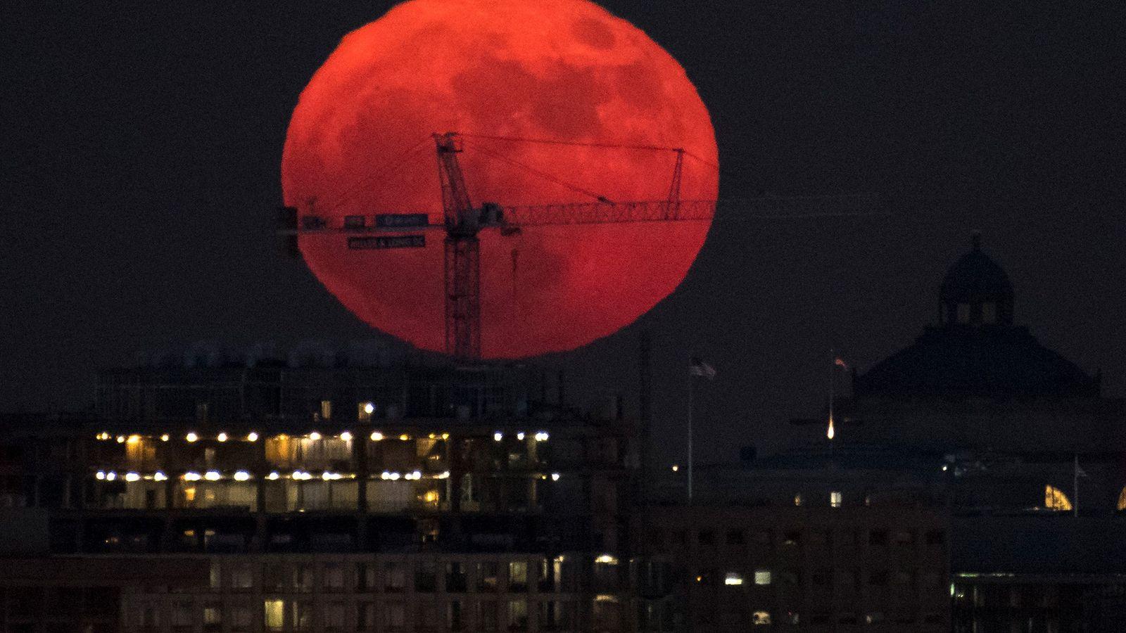 Superluna en Washington, D. C.