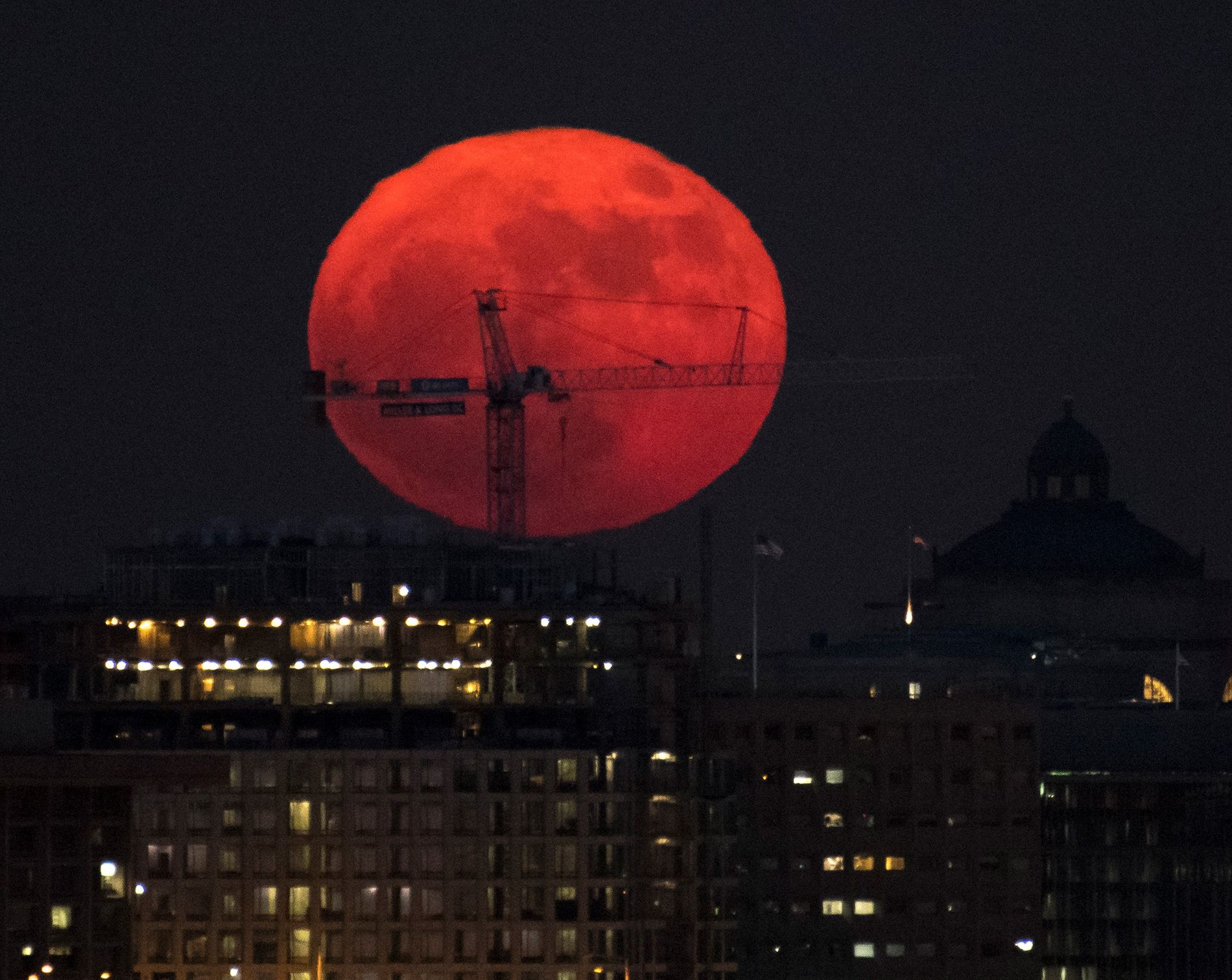 Superluna en Washington, D. C.
