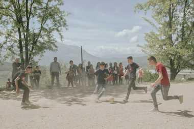 Un torneo de fútbol en la escuela de Kuta
