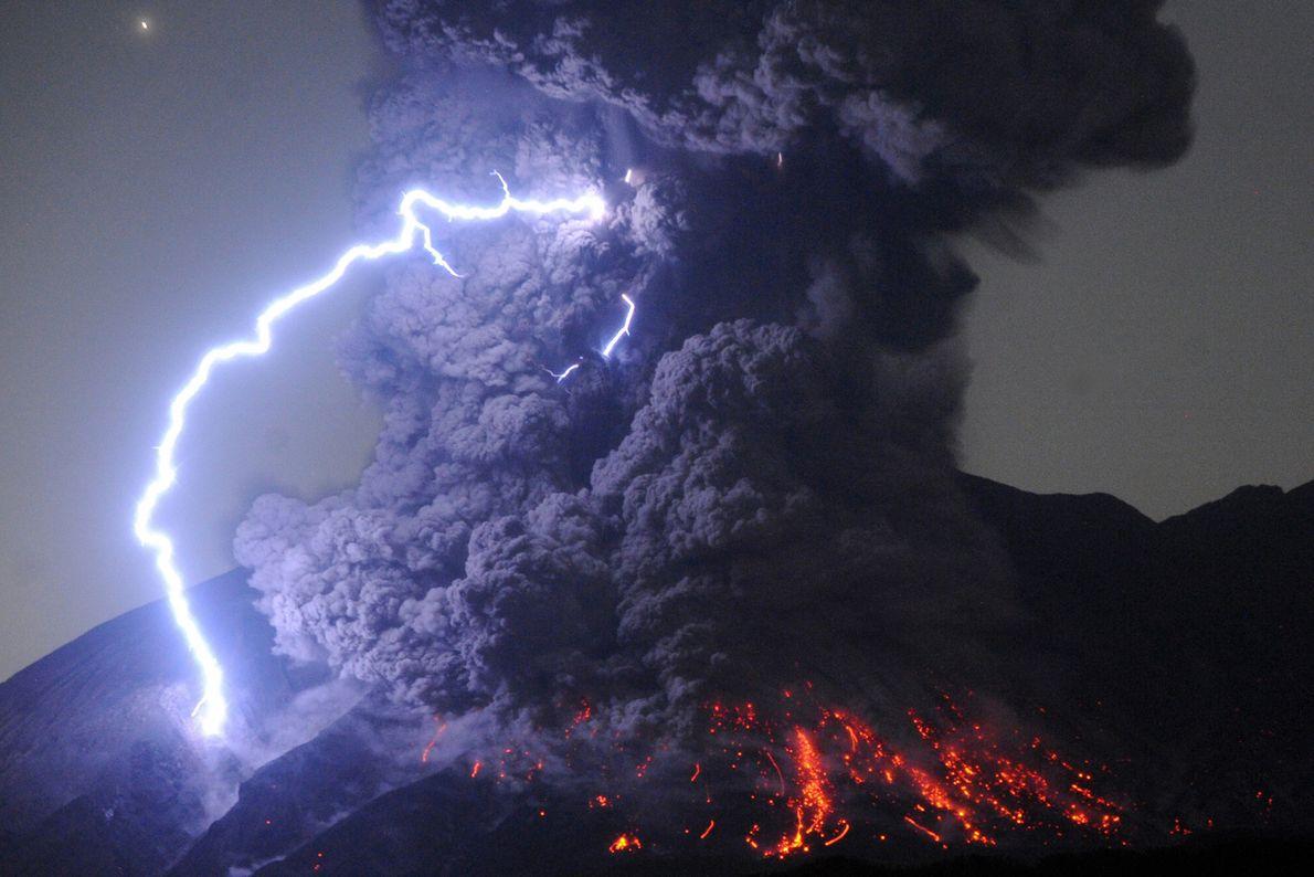 Monte Sakurajima, Japón