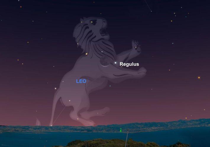 Regulus y la Luna