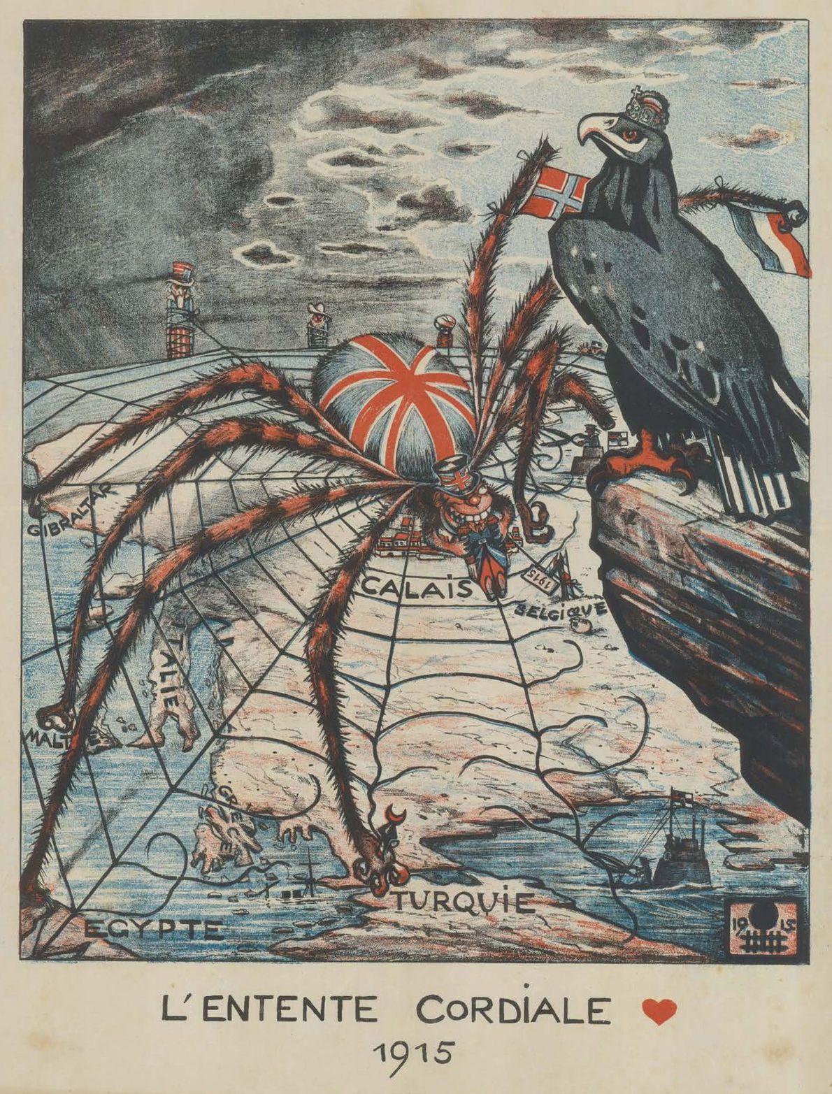 El mapa humorístico de Europa en 1914