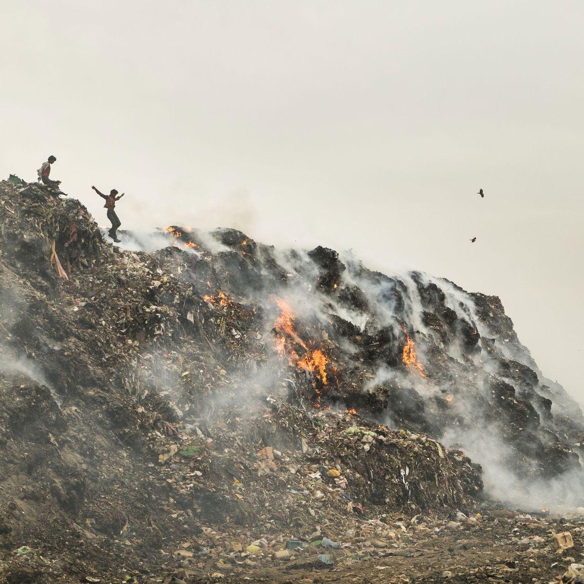 Incineración de vertederos