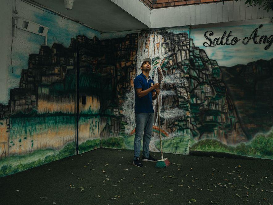 Moisés García, de Caracas, lleva en Cúcuta más de un año. Pudo reunirse con su mujer ...