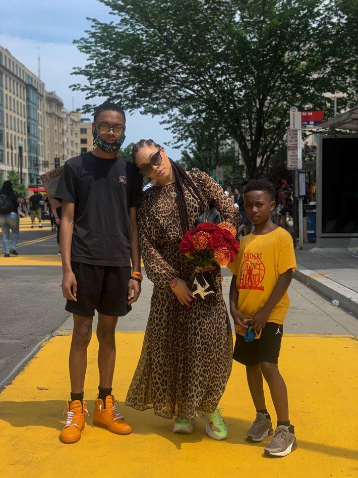 Nia Stewart y su familia