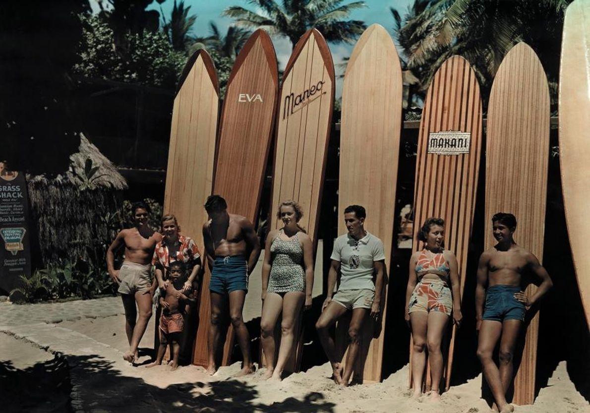 Tablas de surf pasadas de moda