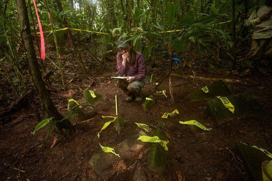 Anna Cohen, estudiante de antropología de la Universidad de Washington prepara la documentación de 50 objetos ...
