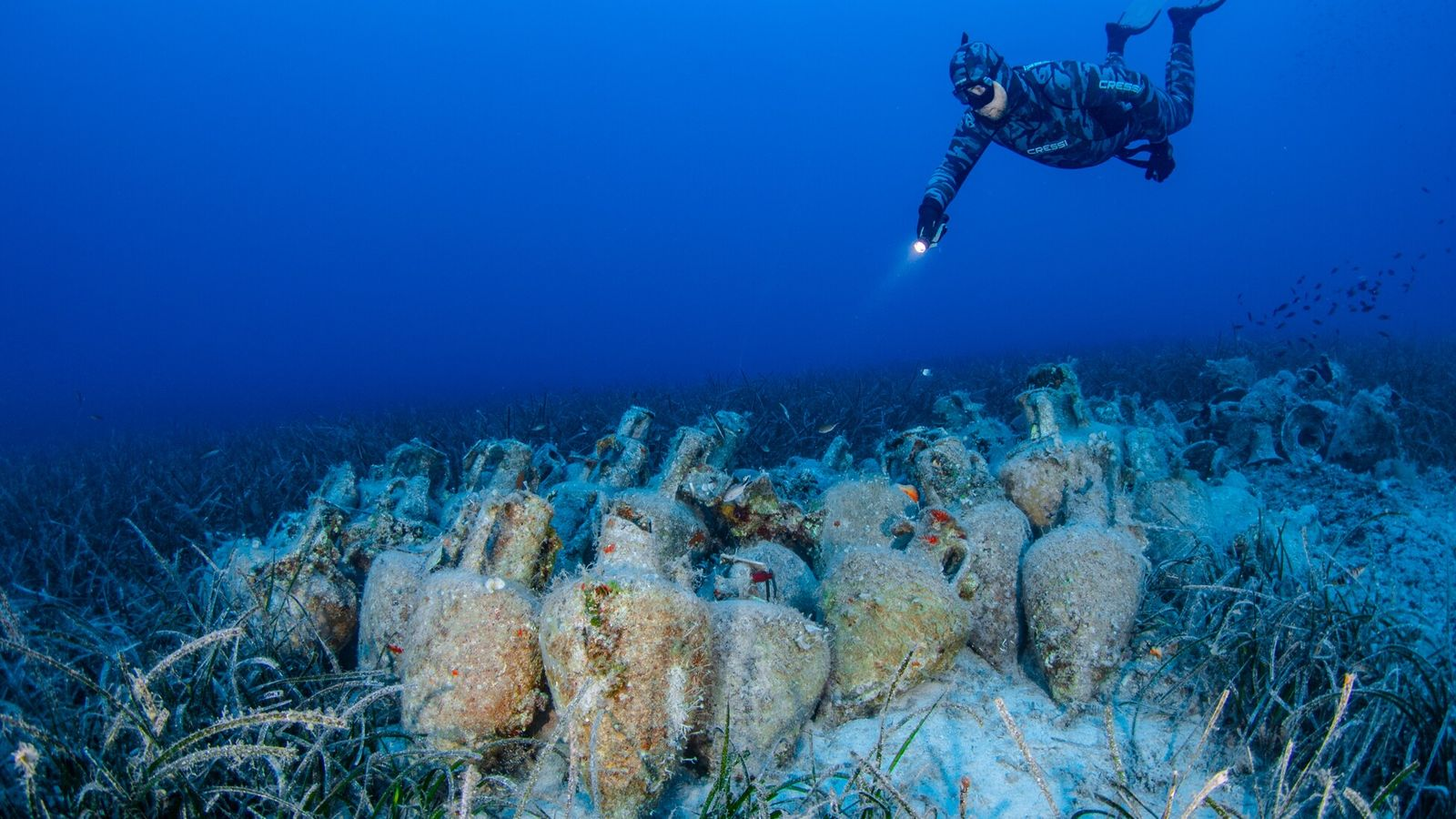 Fotografía del nuevo museo submarino de Grecia