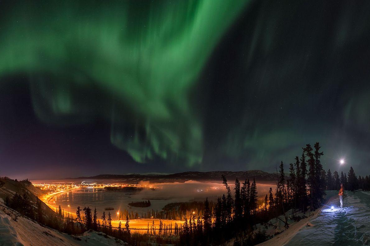 Aurora en el territorio canadiense de Yukón