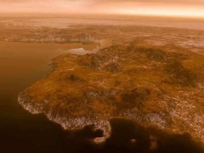 Encuentran lagos de metano tropicales en un satélite de Saturno