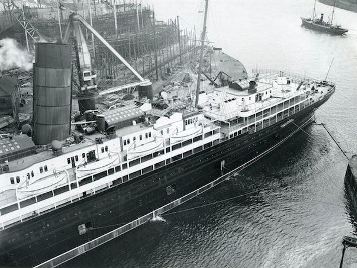 El hundimiento del Lusitania