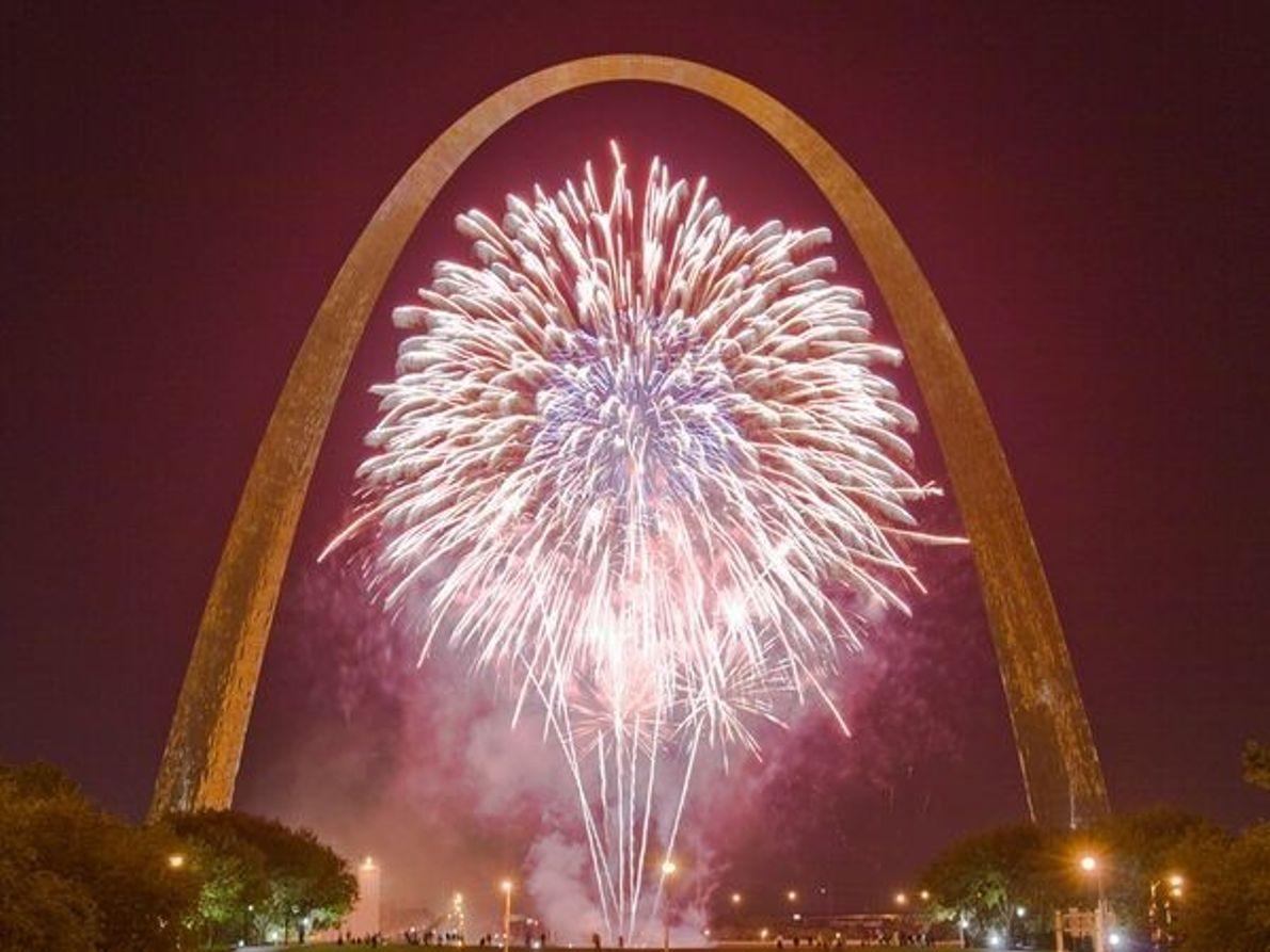 Fuegos artificiales en St. Louis