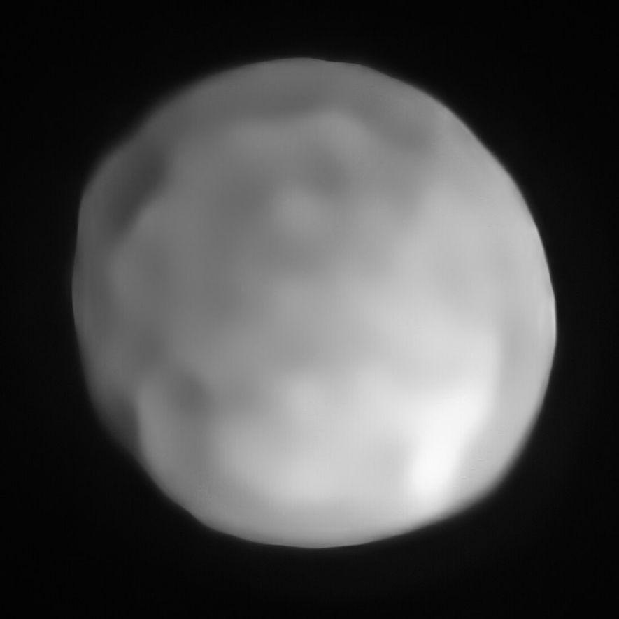 Una nueva imagen de Hygiea, conseguida con tecnología Sphere, VLT, podría colocarlo como el planeta enano ...