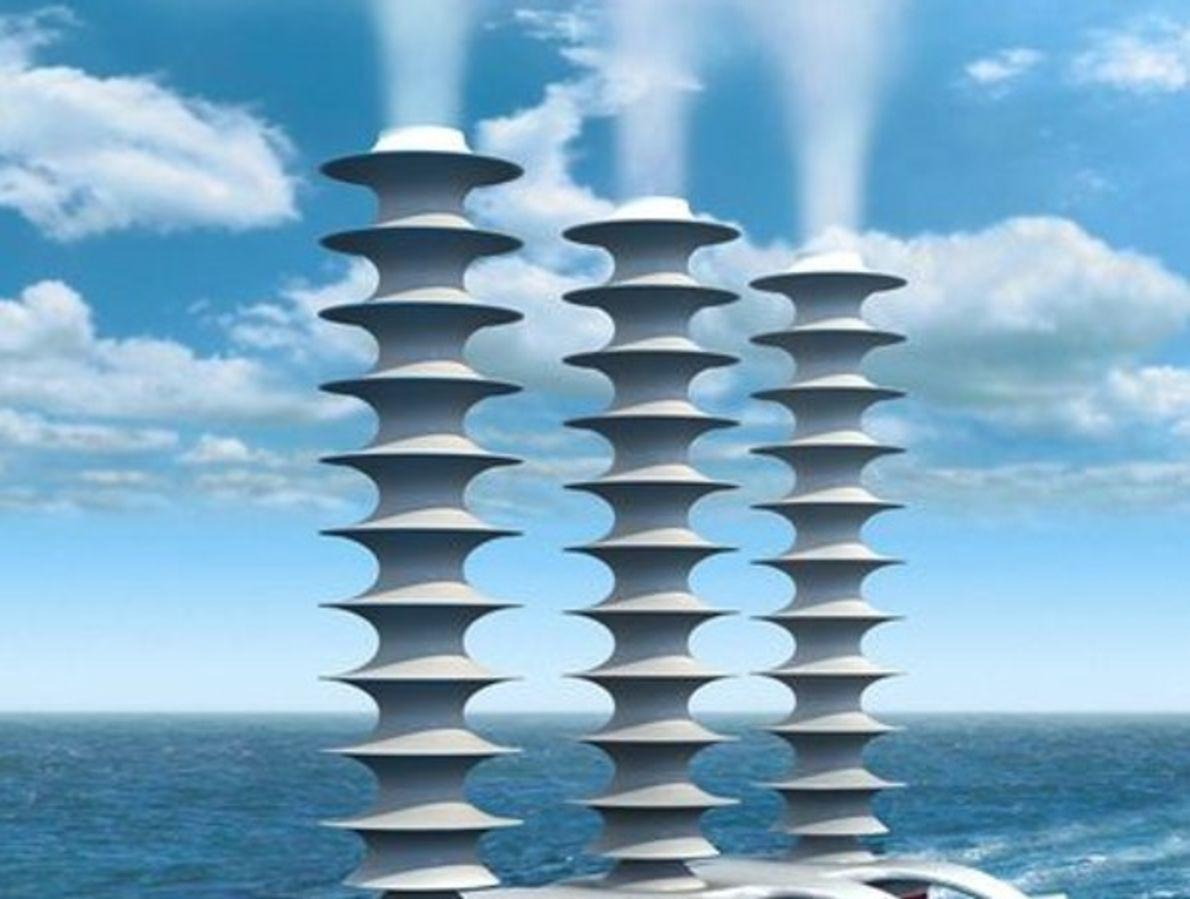 Barcos que fabrican nubes