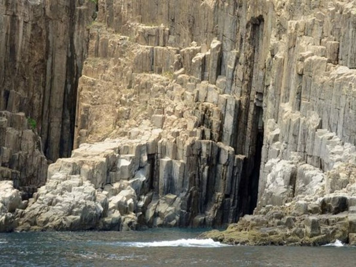 Columnas formadas por la lava