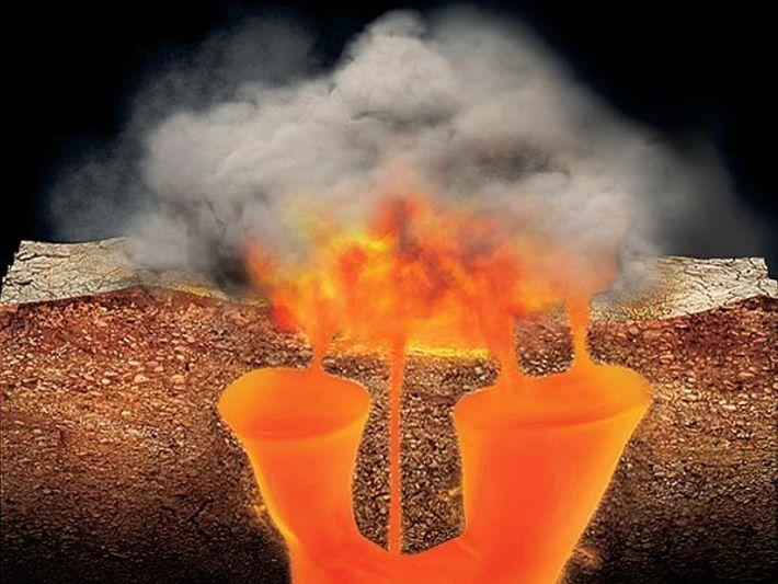 Ilustración Volcán Yellowstone