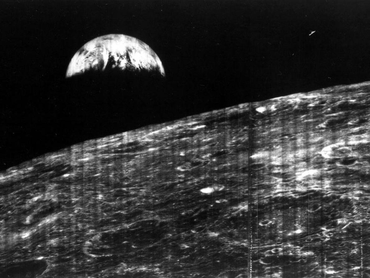 Imagen de la Tierra vista desde la Luna