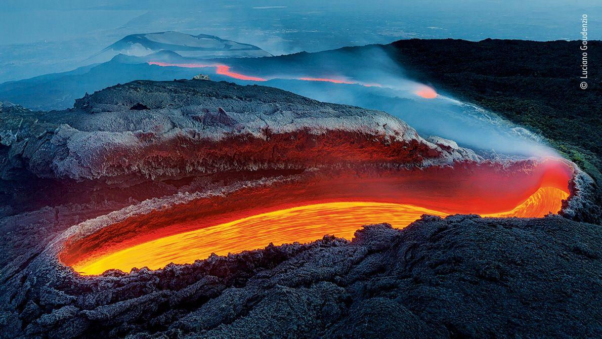 Lava en el Etna