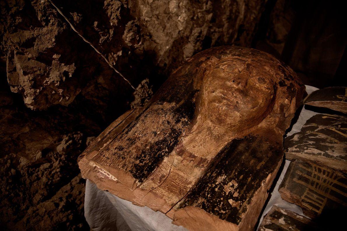 Una máscara funeraria no identificada