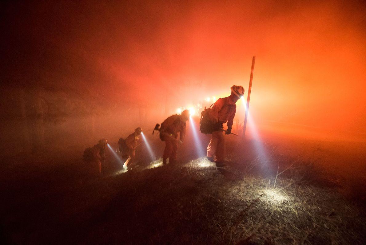 Incendio en el condado de San Bernardino
