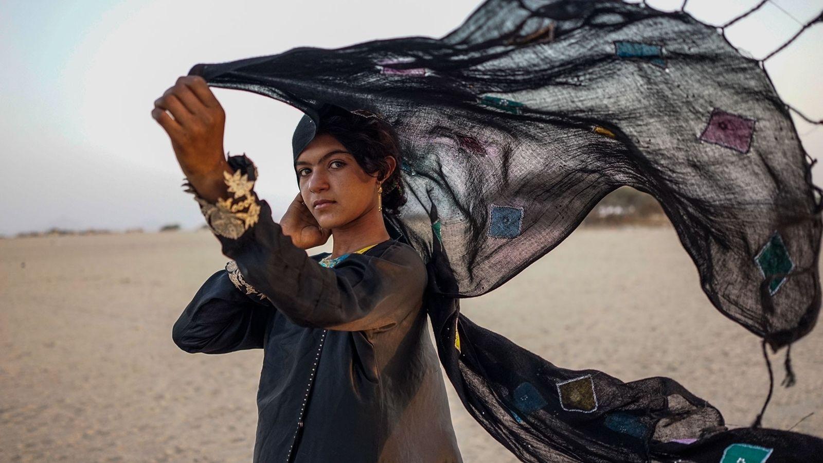 Una joven yemení