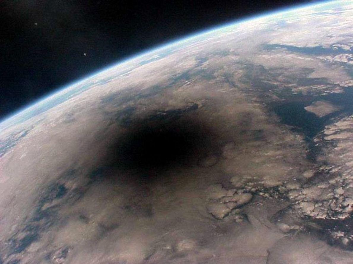 La Tierra durante un eclipse solar