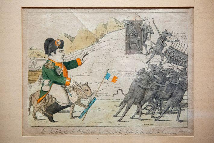 Una caricatura de Napoleón