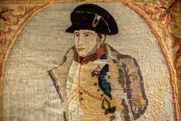 Un retrato bordado de Napoleón Bonaparte