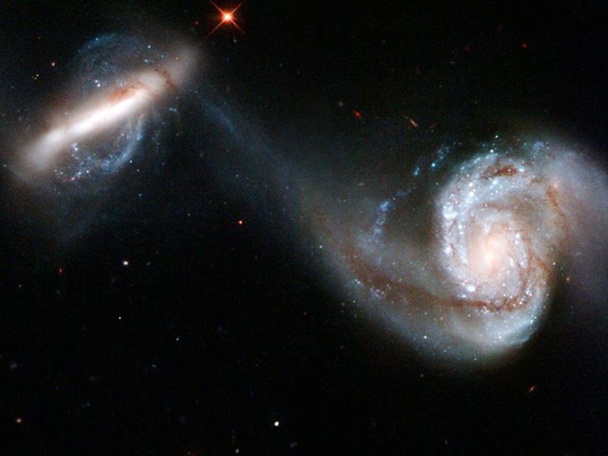 Interacción de un par de galaxias
